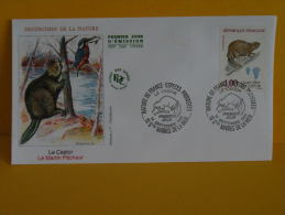 FDC- Le Castor, Le Martin Pêcheur - 13 St Maries De La Mer - 14.9.1991 - 1er Jour, - FDC