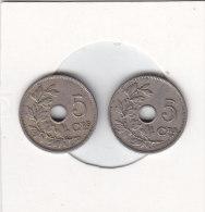 2 X 5 Centimes  Albert I 1920 FR Et FL - 1909-1934: Albert I
