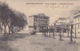 Monte Compatri-castelli Romani-viale Umberto-alberato Laterale -viag,1913-cartolina Di 106 Anni - Italia