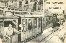 Un Bonjour De Bergues - Dames, Chapeau, Train, Pécheurs à La Ligne - Bergues