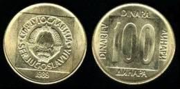 Yugoslavia 100 Dinares 1.989 Latón KM#134 SC/UNC      T-DL-10.294 - Yugoslavia