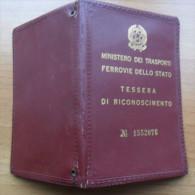 + TESSERA DI RICONOSCIMENTO FERROVIE DELLO STATO - VENEZIA 1964 - - Documenti Storici