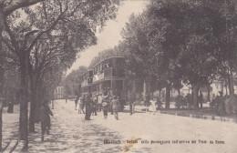 Frascati- Castelli Romani-tram Doppio-viaggiata 1908-animata Cart. Di 110 Anni -super - Italië