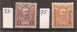 Montenegro   Y/T      73 + 75       (X) ) - Montenegro