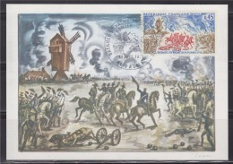 = La Bataille De Valmy 30 Septembre 1792 51 Valmy 18 Septembre 1971 Carte Postale 1er Jour N°1679 - 1970-1979