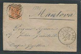 1879  RARA  COLLETTORIA  DA   LUZZARA   REGGIO EMILIA  X   MANTOVA - 1861-78 Vittorio Emanuele II