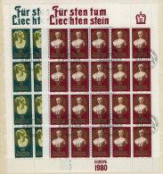 Liechtenstein Michel KB No. 741 - 742 gestempelt used Bogen