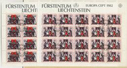 Liechtenstein Michel KB No. 791 - 792 gestempelt used Bogen