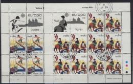 Malta Michel KB No. 628 - 629 gestempelt used Bogen