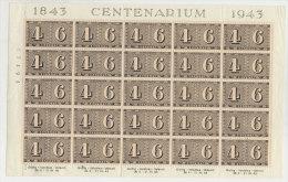 Schweiz Michel No. 416 ** postfrisch Bogen gefaltet, angetrennt, 4 Marken * ungebraucht