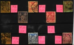 LOT De 8 TIMBRES ANCIENS OBLITERES N° 93-94-96-97-98-99a-101-104  - Bon état - 1876-1878 Sage (Type I)