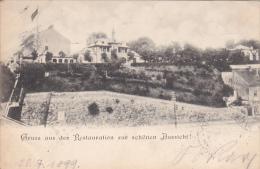 Gruss Aus Der Restauration Zur Schonen Aussicht!, WIEN (Vienna), Austria, PU-1899 - Vienna