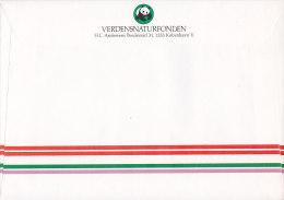 Denmark PP Postage Paid Postman Bicycle Velo Fahrrad WWF Verdensnaturfonden Panda Cover Brief Prince Henrik (2 Scans) - Danemark