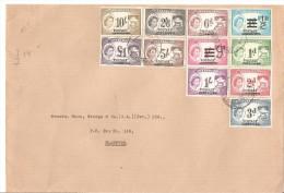 Carta De Nyasaland Serie Completa. - Briefmarken