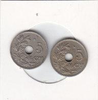 2 X 5 Centimes  Albert I 1930 FL Et 1931 FL  Avec étoile - 1909-1934: Albert I