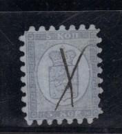 FINLANDE N° 5 A  Obl.plume  Perçage I Signé R.Calves - Used Stamps