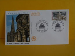 FDC- La Tour Et Le Clocher De L'église St Sauveur - 35 Redon - 7.3.1987 - 1er Jour, - FDC
