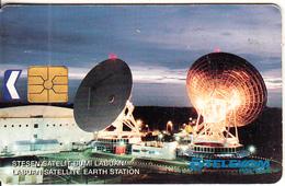 MALAYSIA(chip) - Labuan Satellite Earth Station, Telecom Malaysia Telecard RM5, Used - Malaysia