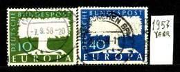 EUROPA - CEPT - GERMANIA - Year 1957 - Viaggiato - Traveled -voyagè -gereist. - Europa-CEPT