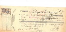 Lettre Change 14/1/ 1932 POIZAT FOURNIER BOURG DETHIZY Rhône Pour Joinville Haute Marne  - Timbre Fiscal - Lettres De Change