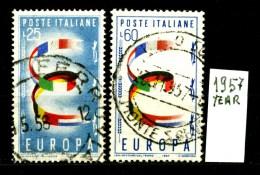 EUROPA - CEPT - ITALIA - Year 1957 - Viaggiato - Traveled -voyagè -gereist. - Europa-CEPT