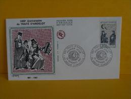FDC- Traité D'Andelot 587 - 52 Andelot Blancheville - 28.11.1987 - 1er Jour, - FDC