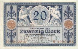 Deutschland, Germany - 20 Mark, Reichsbanknote, Ro. 53 ,  ( Serie O/H  ) UNC, 1915 ! - 1871-1918: Deutsches Kaiserreich