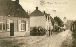 Adegem - Kerkstraat En Kerk  ( Verso Zien ) - Maldegem