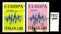EUROPA - CEPT - ITALIA - Year 1972 - Viaggiato - Traveled -voyagè -gereist. - Europa-CEPT