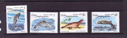 CUBA 1980  DAUPHINS  YVERT N°2197/2200  NEUF MNH** - Dauphins