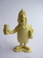 RARE FIGURINE PIERRAFEU - FLINTSTONE - MARX 1961 Reprint 1991 Monochrome AVEC CHOPPE - Figurines