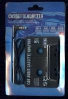 CASSETTE ADAPTER CAR AUDIO CASSETTE ADAPTOR CD PLAYER MP3 CD MD DVD IPOD NUOVO IN BLISTER - Audiokassetten