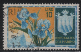 21636 San Marino 1953 Fiori 1° Serie £ 10 Usato - Usati