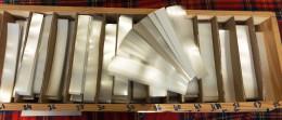 1 500 GR. DE BANDES HAWID SIMPLE SOUDURE FOND TRANSPARENT- LONGUEUR 210mm X HAUTEUR AU CHOIX.+ 10% GRATUIT- VOIR INFO - Mounts