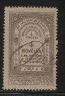 BOSNIA & HERCEGOVINA (AUSTRO-HUNGARIAN EMPIRE)1886 REVENUE 4N BROWN BAREFOOT 041 PERF 13.00 X 13.00 - Officials