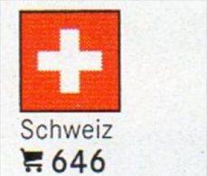 Set 6 Flags In Color Schweiz In Farbe 4€ Zur Kennzeichnung Von Bücher,Alben Und Sammlungen LINDNER #646 Flag Of Helvetia - Schweiz