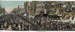 - Triptyque , Dépliant 3 Cartes, Mardi Gras, New Orléans, Canal Street, Splendide, Rare, Non écrite, TBE, Scans. - New Orleans