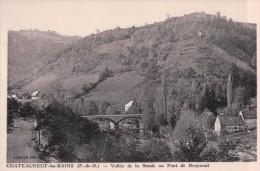 Cpa63 Chateauneuf Les Bains Vallée De La Sioule Au Pont De Braynant - Autres Communes