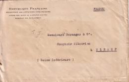 HONGRIE - BUDAPEST  8-10-1925 LETTRE REPUBLIQUE FRANCAISE MINISTERE DES AFFAIRES ETRANGERES BUREAU DE BUDAPEST-AFFRANCHI - Marcophilie