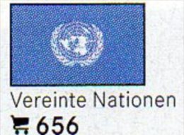 Set 6 Flags In Color Vereinte Nationen In Farbe 4€ Zur Kennzeichnung An Bücher,Alben+Sammlungen LINDNER #656 Flag Of UNO - Telefonkarten