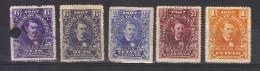 N° 103 Deux Nuances ,105 ,106 ,107 (1907) - Honduras