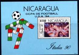Nicaragua 1993 Italy 90 Overprinted USA 94 Football Soccer World Cup - Nicaragua