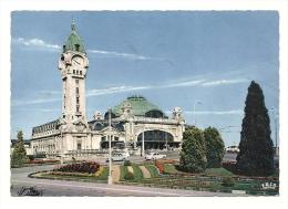 Cp, Gare, Limoges, La Gare De Limoges-Bénédictins Et Les Jardins, écrite 1971 - Stazioni Senza Treni