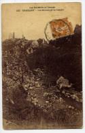 """1929--cachet Convoyeur Ou Ambulant  """"Limoges à Chateauroux"""" Sur Carte Postale  De Crozant--23 - Marcophilie (Lettres)"""