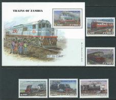 Zambia 1999 SC 776-781 MNH Trains - Zambia (1965-...)