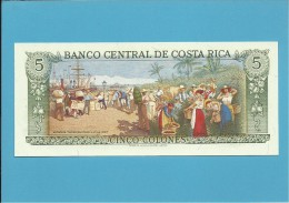 COSTA RICA - 5 COLONES - 04.10.1989 - P 236d - UNC. - Costa Rica