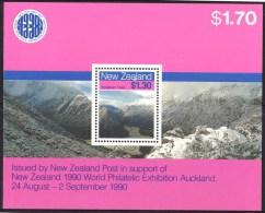 New Zealand 1990 Routeburn Track - World Philatelic Exhibition MS MNH - New Zealand