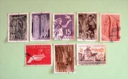 Yugoslavia 1955/57 Hand Industry Peace Dove Tower Art Relief Church Monastery - Usados