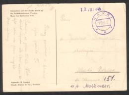 "C00024 - Czechoslovakia (1945) Navsi (""provisional"" Postage Postmark) Paid In Cash, Postcard: Skalka, Mosty U Jablunkova - Briefe U. Dokumente"