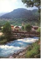 Vallouise : Le Village Léglise Le Pont Sur Le Torrent (francou) - France